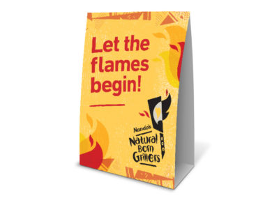 Nando's Grillers tent card