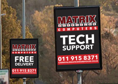 Matrix Computer Warehouse Street Pole Adverts