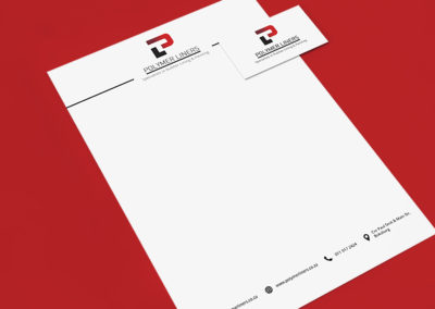 Polymer Liners Logo and Letterhead Mockup