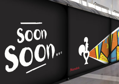 Nando's Hoarding designed by Ruby Sky Creative Communications Agency